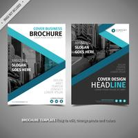 Blue Design Brochure vector