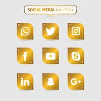 Sammlung des goldenen Social Media