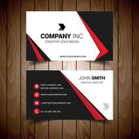Red And Black Bordered Business Card vector