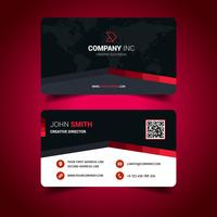 Red Lined Cool Business Card