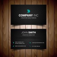 Svart prickad företags visitkort