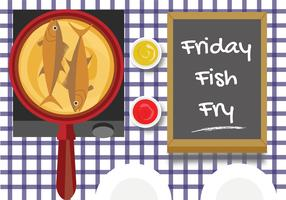 Viernes Fish Fry Vector Design