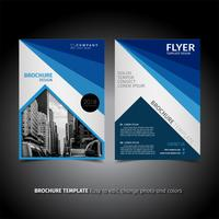 conception de flyer brochure entreprise bleu