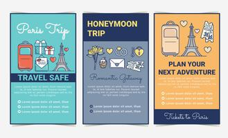 Vector Travel Flyers