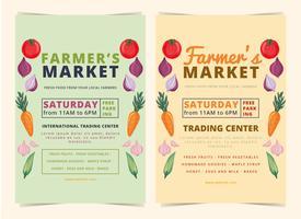 folheto do mercado dos fazendeiros do vetor