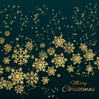 Christmas Background With Golden Snowflake