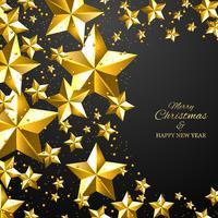 Natal e ano novo fundo preto vetor