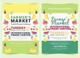 Dépliant de vecteur Farmers Market