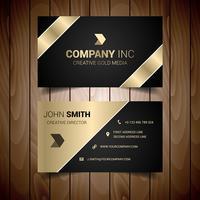 Carte de visite pour entreprise avec bordures sombres et dorées