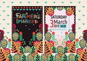 Farmers Market Flyers Vol 2 Vector