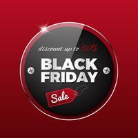 Black Friday Sale On Red Background