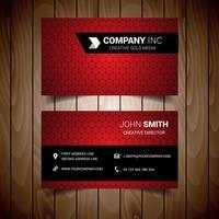 Cartão de visita vermelho claro