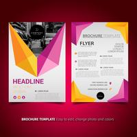 Modernes Design der Broschüre