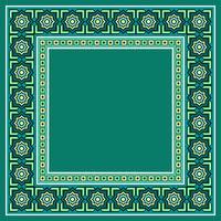 Vector da fronteira islâmica marroquina