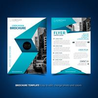 Blaue Flyer Design