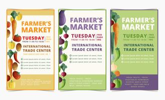 Vector Farmer's Market Flyers