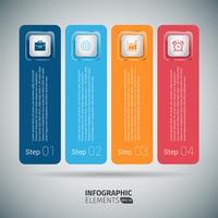 Kleurrijke stapsgewijs Infographics sjabloon