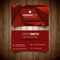 Red Triangle Elegant Business Card