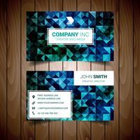 Blått och grönt abstrakt företags visitkort
