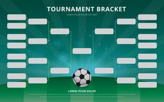 Football Tournament Bracket Poster Template vector