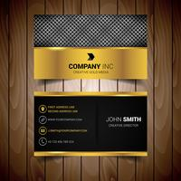 Silber und Gold Corporate Business Card