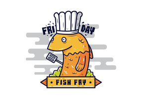Venerdì pesce Fry Vector