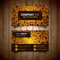 Stared Golden Premium Abstrakt Business Card