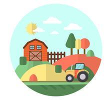 Paisagem da fazenda plana