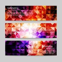 Licht abstracte achtergrond Header Set
