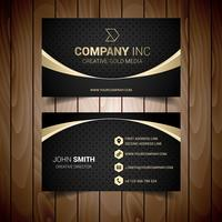 Gold And Grey Bordered Business Card vector