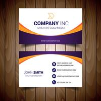 Orange And Purple Bordered White Business Card vector
