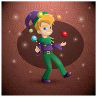 Mardi gras parade boy vector