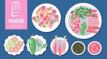Rhubarb Salad Vector