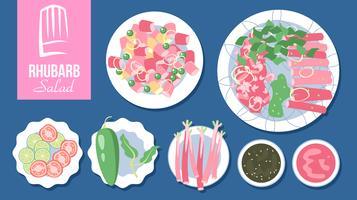 Rabarber salade Vector