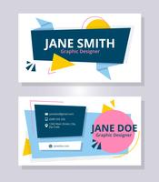 Minimalist Business Card Template vector