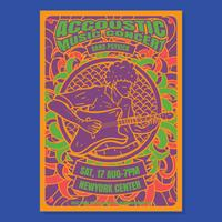 Psychedelic concert poster vector