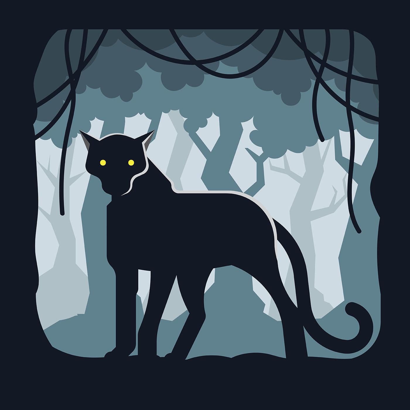 Illustration De La Panthere Noire Telecharger Vectoriel Gratuit