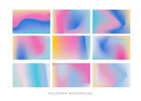 vetor de fundo holograma arco íris