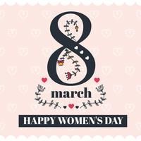 Stijlvolle Happy Women's Day Vector