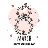 Hand getrokken Women's Day Vector