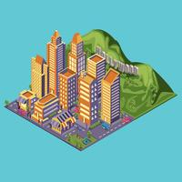 Hollywood sign isometric