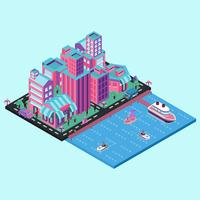 LA Beach isometric
