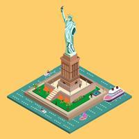 Statue de la liberté isométrique