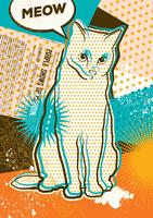 Cat pop art
