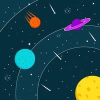 Ilustração vetorial Cosmos