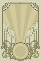 Colores pastel Art Nouveau Frame Vector