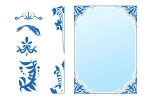 Beautiful Art Nouveau Design Elements vector