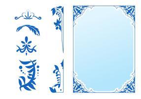 Hermosos elementos de diseño Art Nouveau