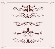 Jugendstil-Header-Elemente Dekoration
