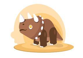 Dinosaurier-Triceratops-Vektor